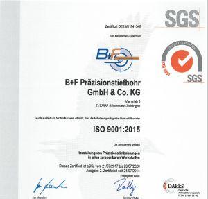 Tieflochbohren Zertifiziert ISO 9001-2015